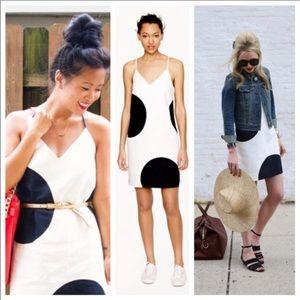 J Crew Carrie Big Dot Dress Sz 0